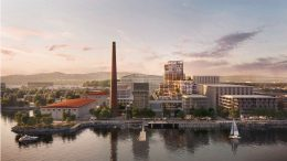 Power Station development master view from the Bay, rendering by Foster + Partners