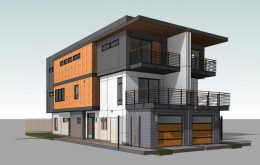 Tomato Alley Infill building at 916-918 T Street, rendering by Ellis Architects