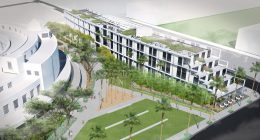 Treasure Island Parcel B aerial view from clipper cove, design by Natoma Architects