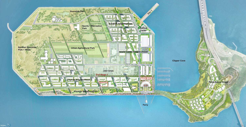 Treasure Island masterplan, design by SOM