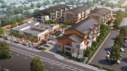 166 East Fremont Avenue aerial perspective, rendering courtesy the True Life Companies