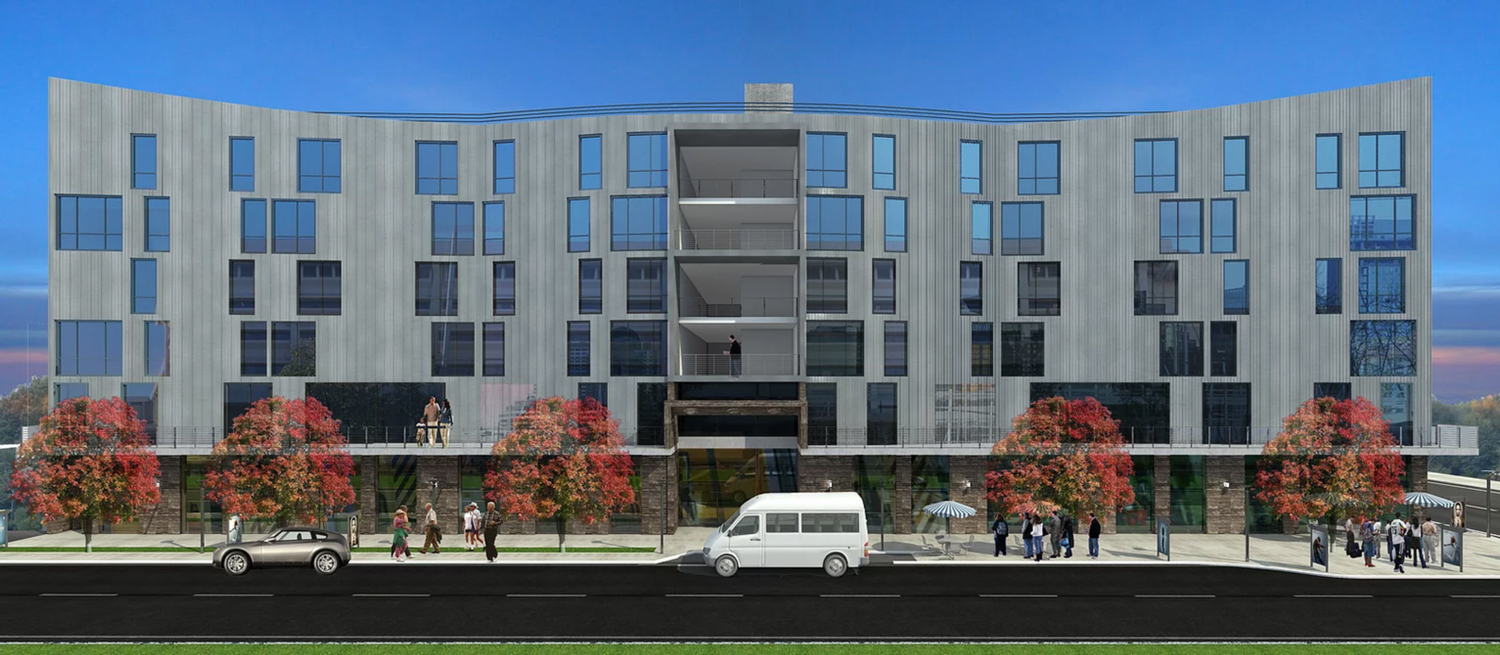 1666 7th Street elevation, rendering by MWA Architects
