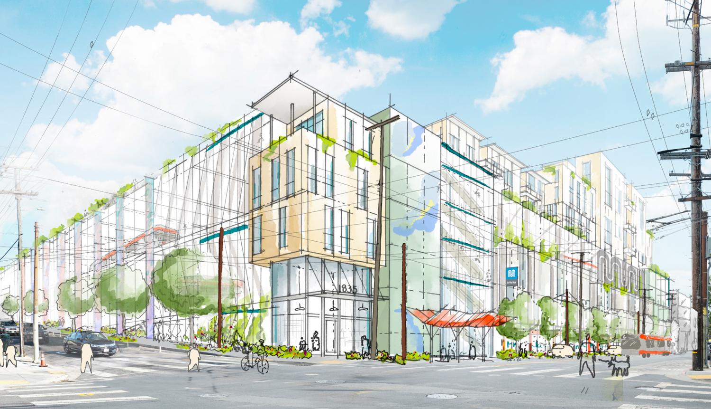 2500 Mariposa Street, rendering by Sitelab Urban Studio
