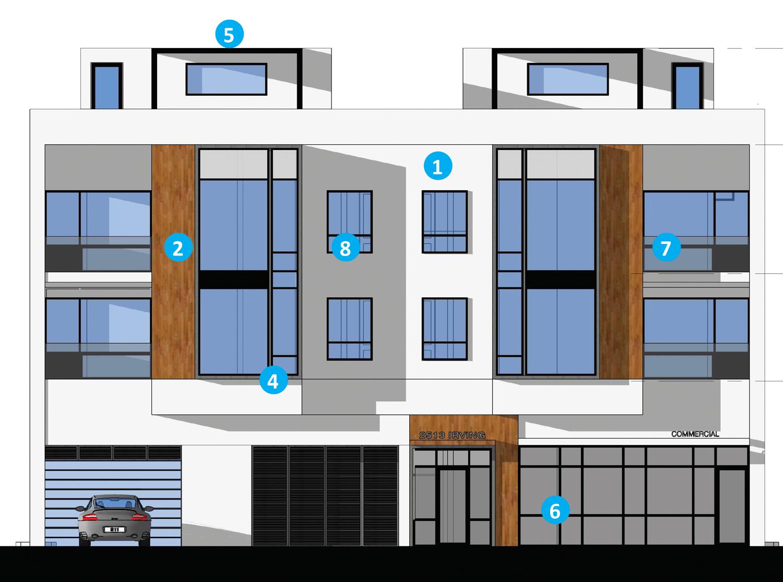 2513 Irving Street elevation, illustration by LPAS Architecture + Design