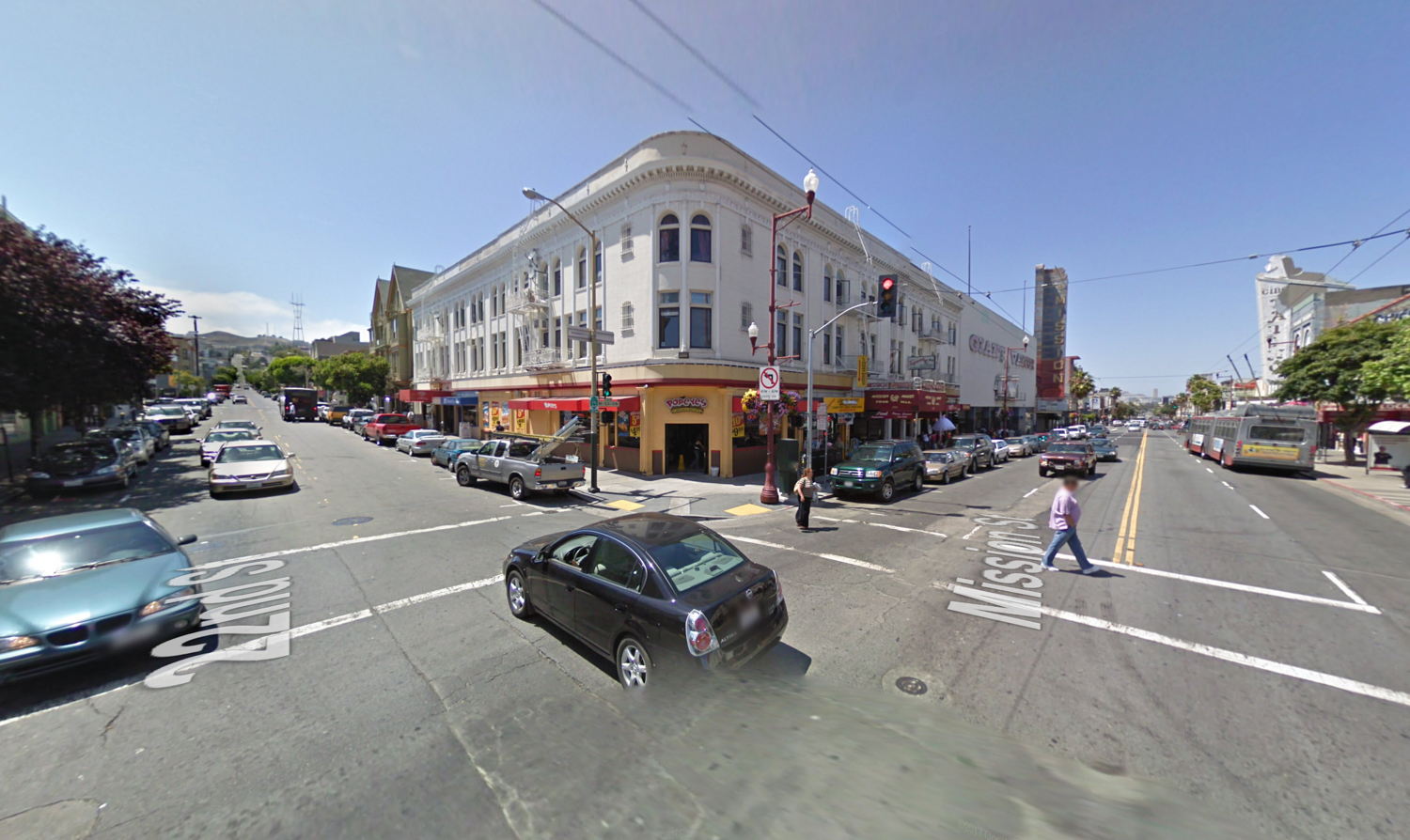 2588 Mission Street previous structure demolished, image via Google Street View