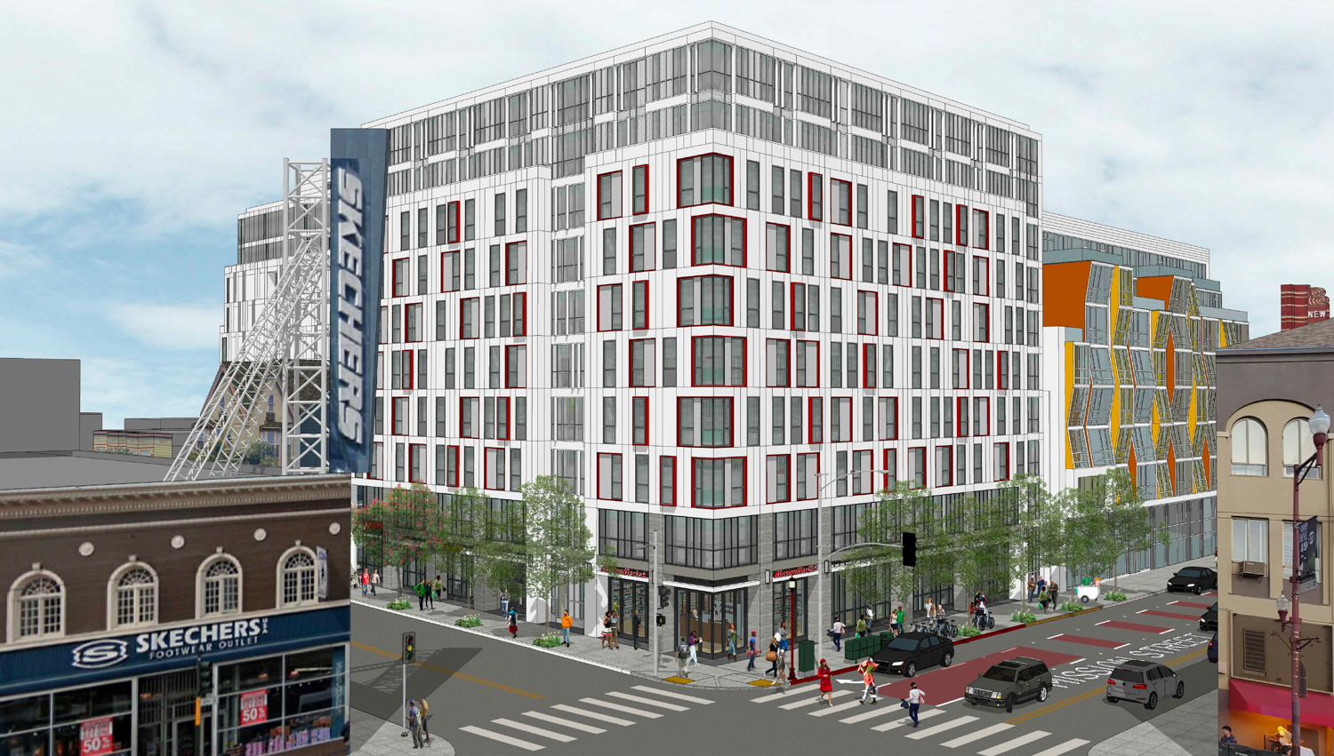 2588 Mission Street, rendering by Ian Birchall and Associates