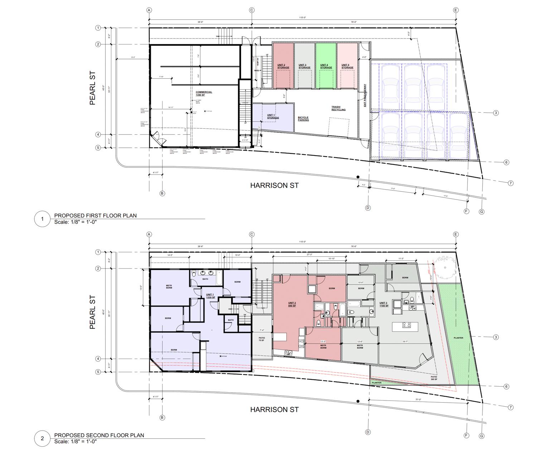 3210 Harrison Street proposed floor plan, illustration b Shan Masuda Design
