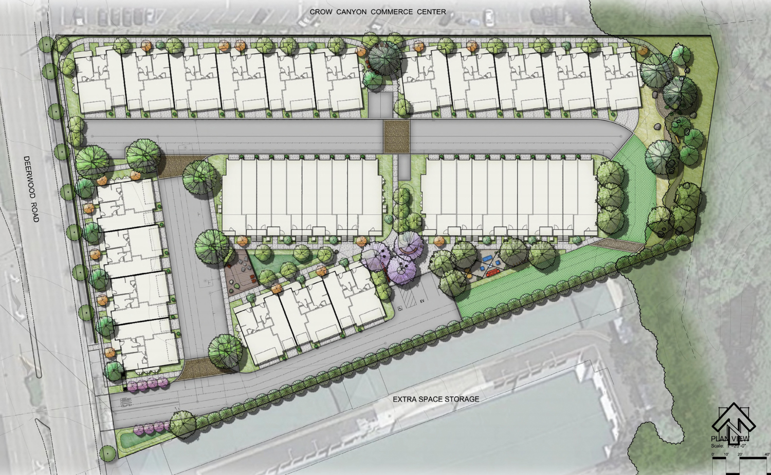 500 Deerwood Road site map, rendering by SDG Architects