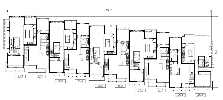 500 Deerwood Road ten-unit floor plan, illustration by SDG Architects