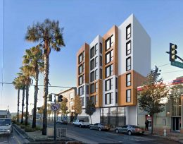 5012 3rd Street highlighting the bay window design feature, rendering by TC Studio