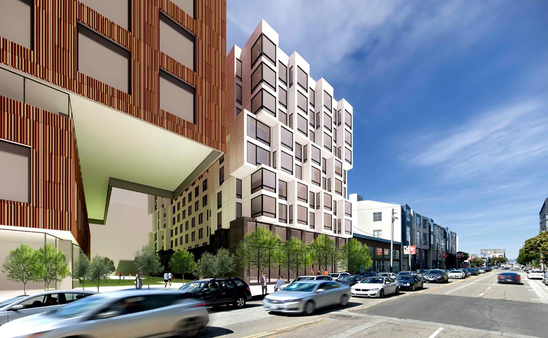 560 Brannan Street beside 598 Brannan Street, rendering by Iwamotoscott Architecture