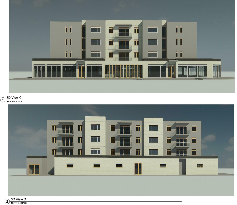 6409 Folsom Boulevard facade elevations, rendering by Opus AE Group