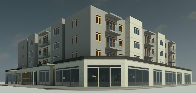 6409 Folsom Boulevard pedestrian view, rendering by Opus AE Group