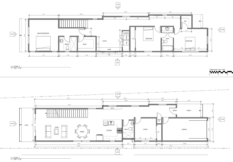 868 36th Street floor plans, illustration by Cheryl Lima
