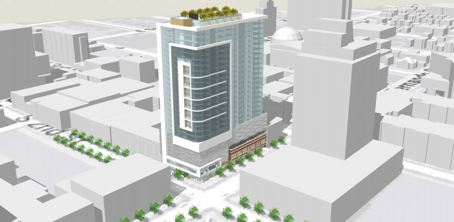98 South 2nd Street aerial view, illustration from Swenson