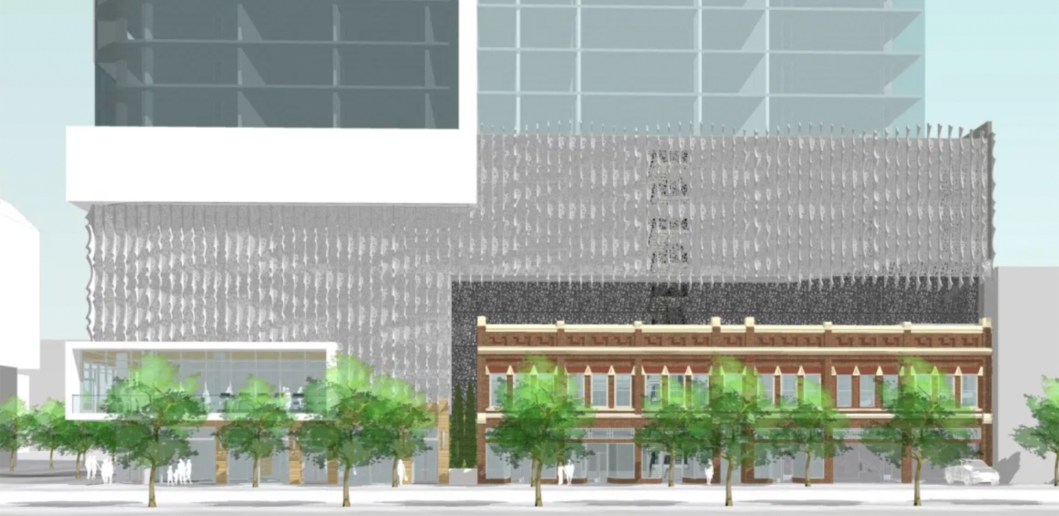 98 South 2nd Street facade elevation, illustration from Swenson