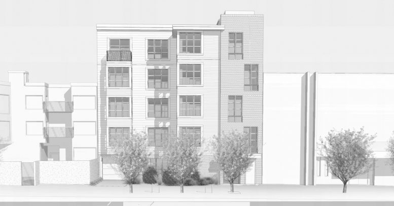 986 South Van Ness Avenue facade elevation, rendering by Kotas Pantaleoni Architects