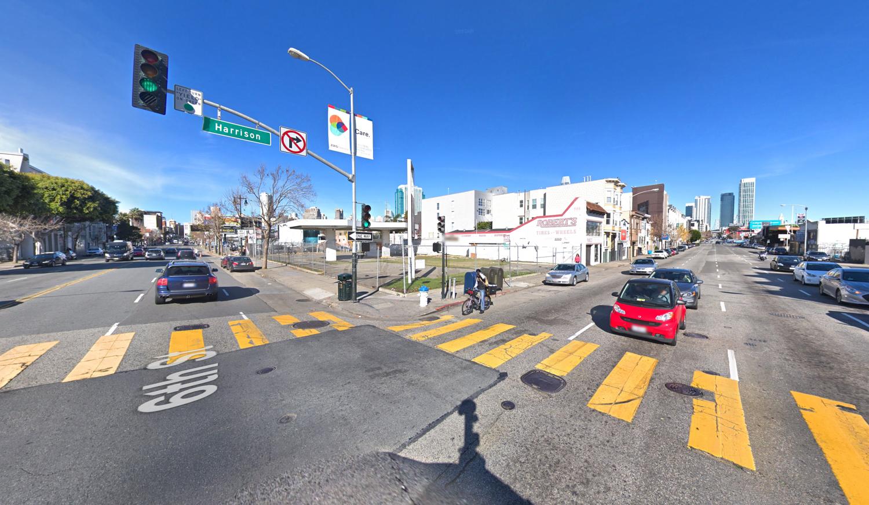 988 Harrison Street existing condition, image via Google Street View