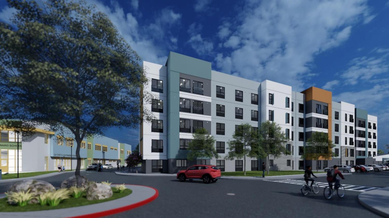 La Vista Apartments entry perspective, design by Architect Orange
