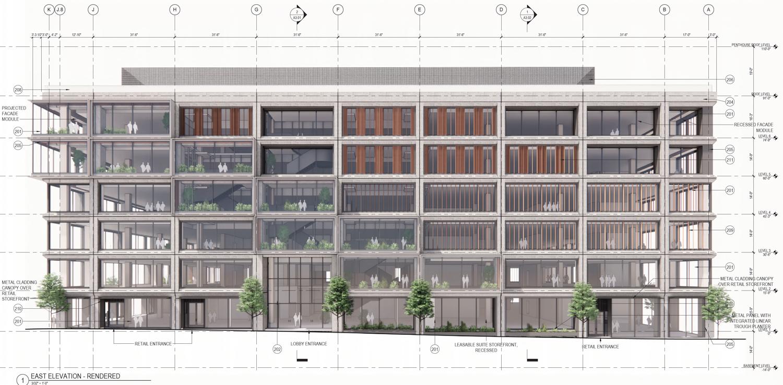 Pier 70's Parcel A at 88 Maryland Street vertical elevation, design by DES and Grimshaw
