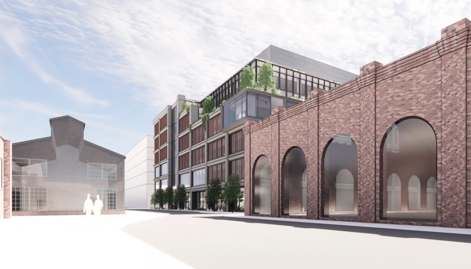 Pier 70's Parcel A at 88 Maryland Street viewed from 20th Street, design by DES and Grimshaw
