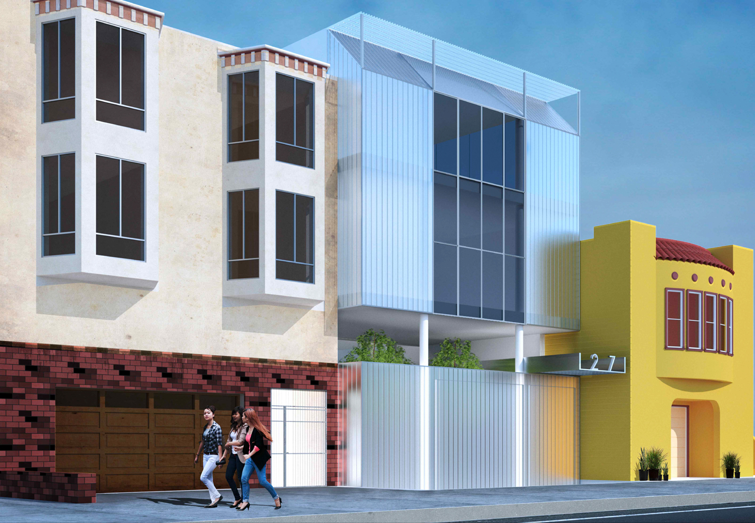 1271 46th Avenue new design, rendering by Stanley Saitowitz Architects