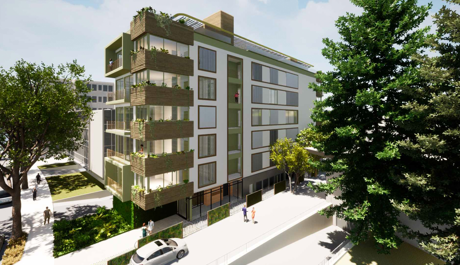 1412 Bellevue Avenue aerial perspective, rendering by MH Architects