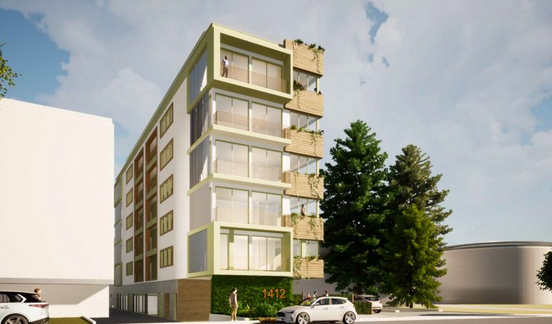 1412 Bellevue Avenue rendering from street, design by MH Architects