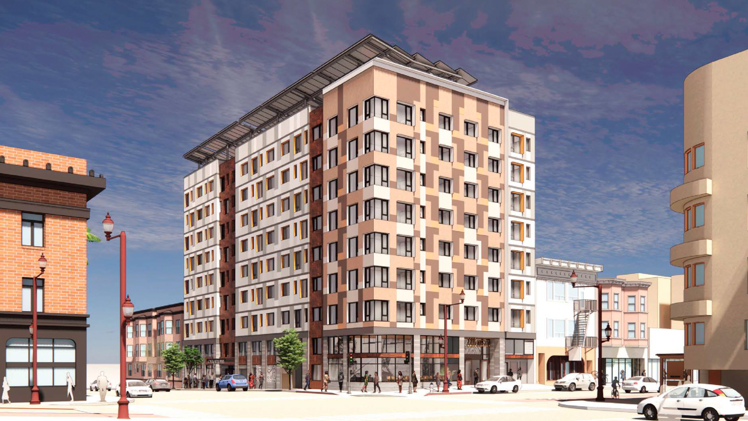 2205 Mission Street, rendering by Gelfand Partners Architects