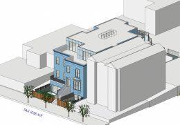 350 San Jose Avenue southwest view, isometric illustration via SIA Consulting
