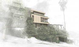 376 Hill Street, rendering by Marmol Radziner Architect