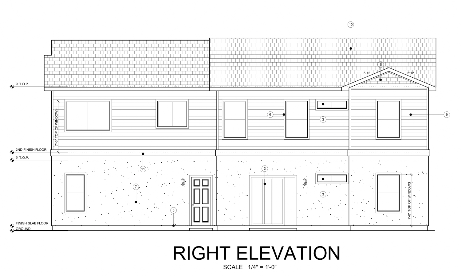 3950 Broadway right elevation, design by Fineline Drafting