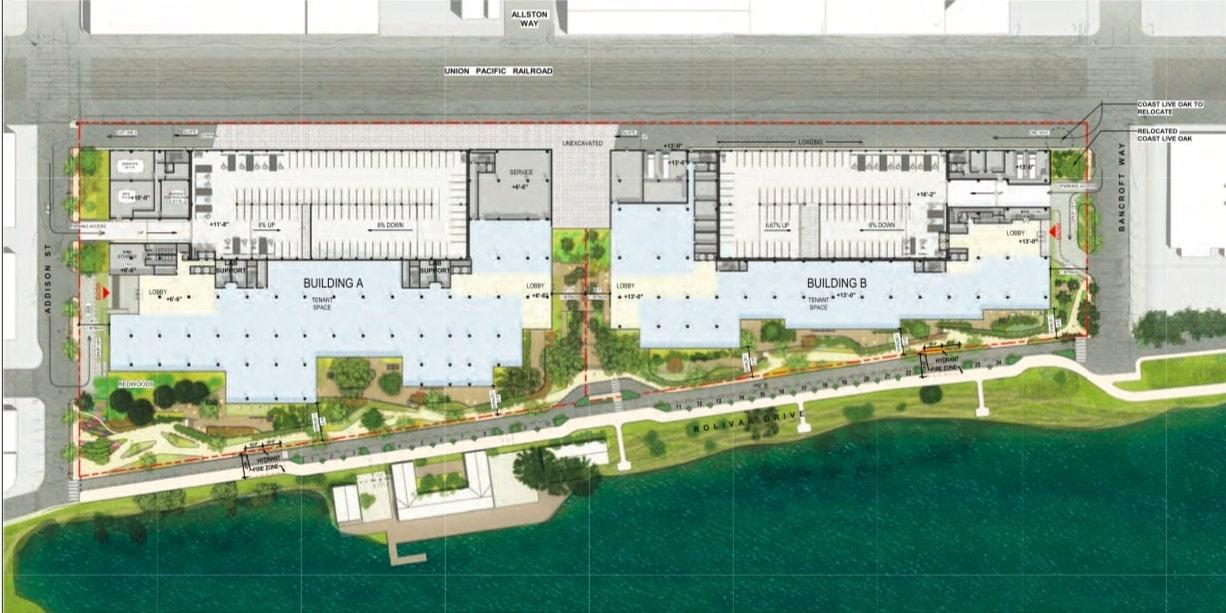 600 Addison Street Site Plan