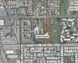 6130 Lemon Hill Avenue property location outlined, image via Sacramento Planning Department