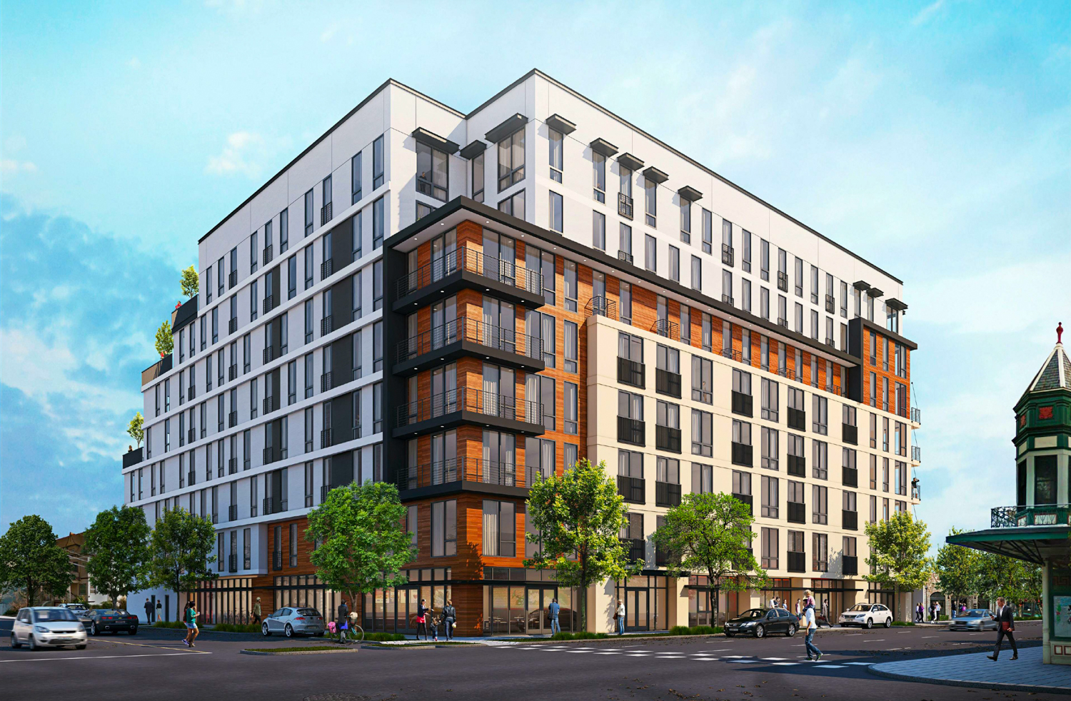 Cascade at 1705 I Street 17th & I Street view, design by HRGA Architecture