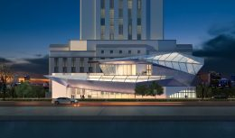 Museum of Jazz and Art at 1310 Oak Street, rendering by Allen Architectural Engineer