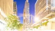 One Embarcadero Center evening view, image by Andrew Campbell Nelson