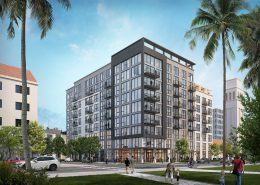 The Warren at 1330 N Street, rendering by HRGA Architecture circa April 2021