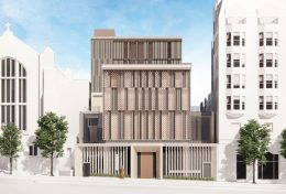 The new American Buddhist Cultural Society rendering for 1750 Van Ness Avenue, design by Skidmore, Owings & Merrill