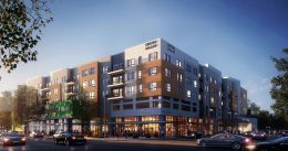 1188 East 14th Street main corner, rendering by BDE Architecture