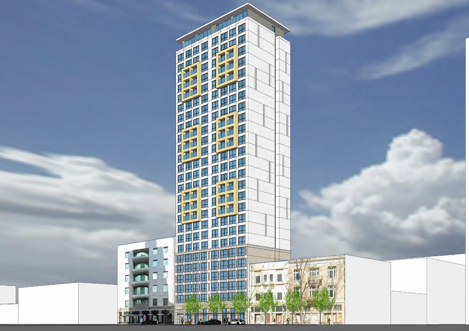17 East Santa Clara Street tower, rendering by Anderson Architects