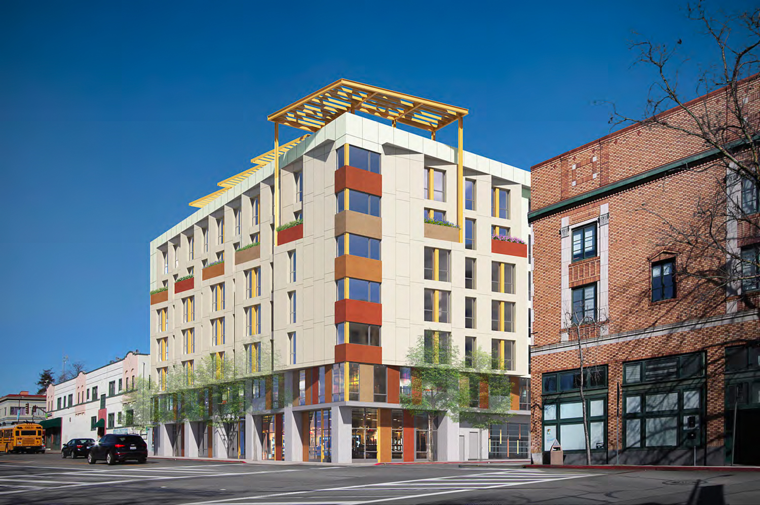 2099 Martin Luther King Jr Way, rendering by Kava Massih Architects