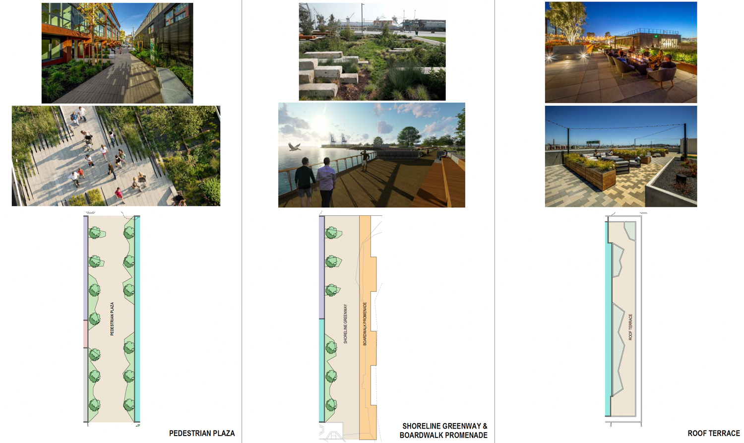 3100 Third Street open space design precedents for inspiration, board by Workshop1