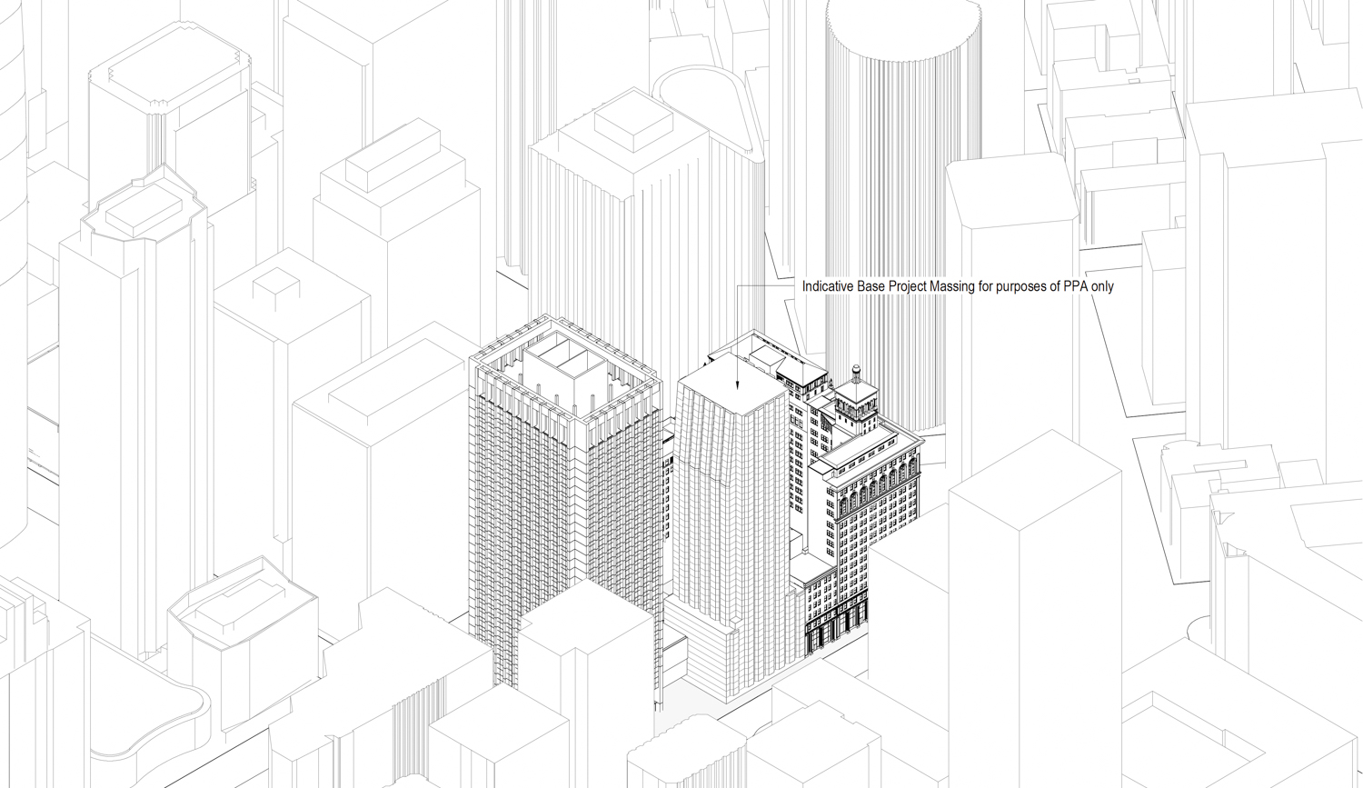 50 Main Street base project, illustration by Foster and Partners