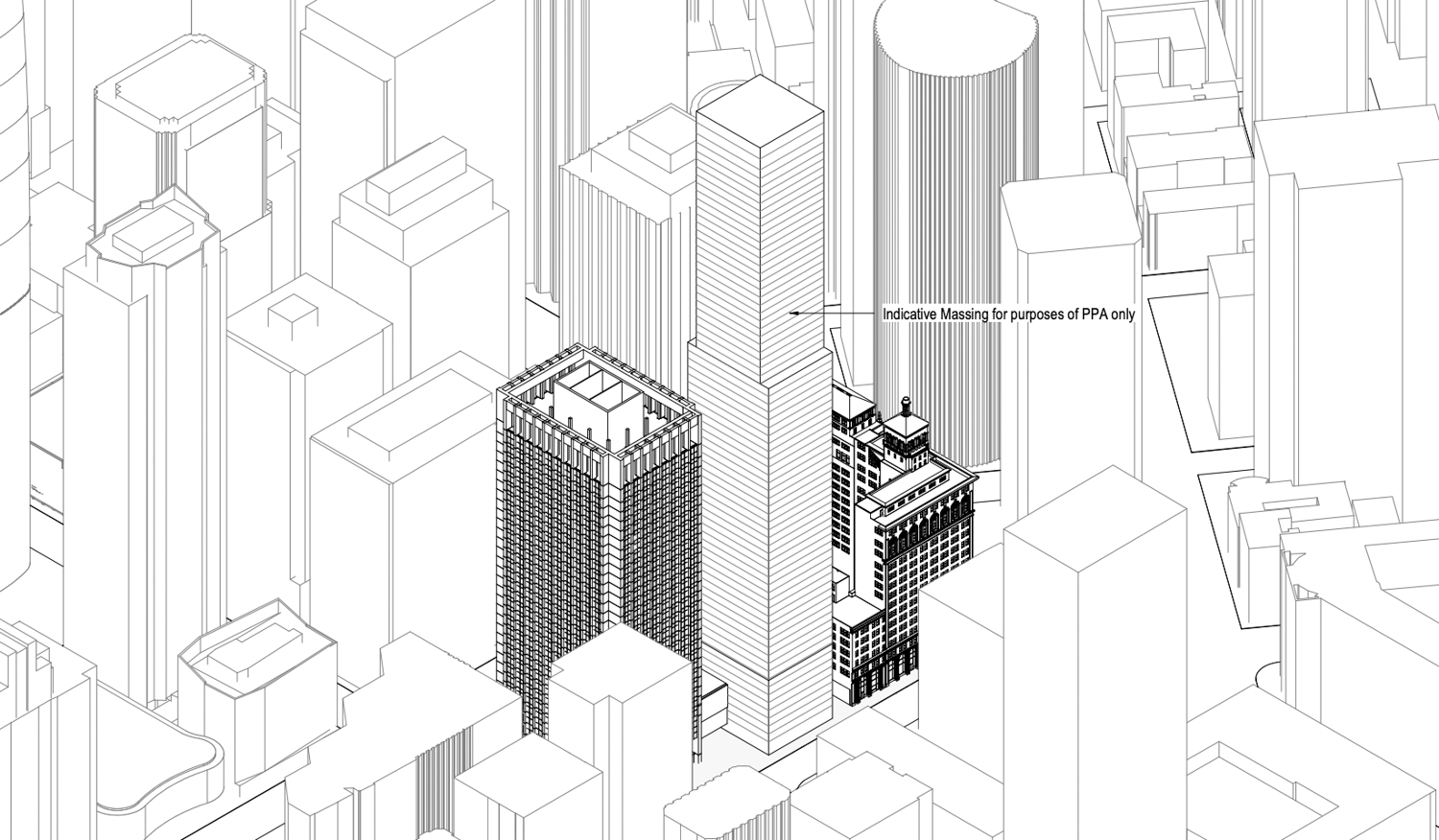 50 Main Street preliminary elevation, illustration by Foster and Partners