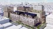 610-698 Brannan Street SF Flower Mart office aerial view, rendering via Adamson Architects and RCH Studios
