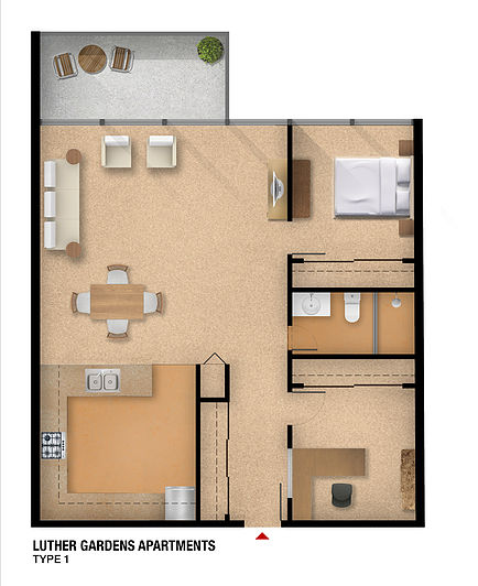 7271 Luther Drive Floor Plan
