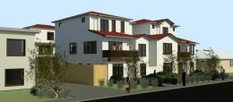 972 Elm Street Villas project seen from Elm Street, rendering by Fahed Habayeb Planning