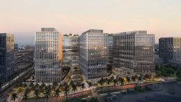 CityView Plaza towers, aerial perspective, design by Gensler