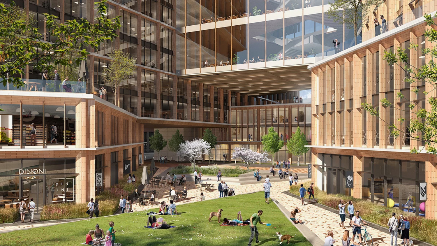 CityView Plaza towers public courtyard, design by Gensler